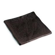 """Matte Black Square Plate 7 1/8"""" x 7 1/8"""""""
