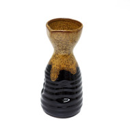 Brown & Black Ceramic Sake Server 8.5 oz