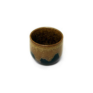 Brown & Black Ceramic Sake Cup 1.5 oz
