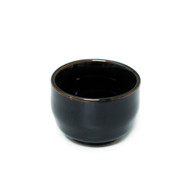 Tenmoku Glazed Black Ceramic Sake Cup 2 oz