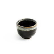 Black & Gray Ceramic Sake Cup 1.5 oz
