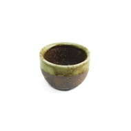 Moss Brown Ceramic Sake Cup 2 oz