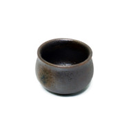 Rusty Brown Ceramic Sake Cup 2 oz