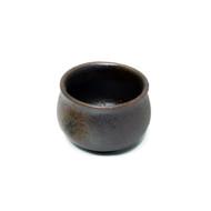 Rusty Brown Ceramic Sake Cup 2 oz
