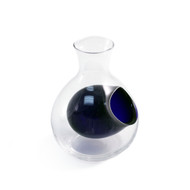 Otsuka Glass Sake Server with Blue Ice Pocket 8 oz