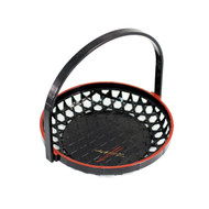 "Black Tempura Basket 7"" dia"