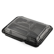 "TZ-306-02K Black Take Out Bento Box 10 1/2"" x 8 (50/pack)"