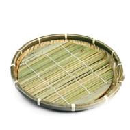 "Large Bamboo Zaru Soba Basket Plate 8 5/8"" dia"