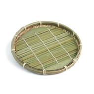 """Small Bamboo Zaru Soba Basket Plate 7 1/8"""" dia"""
