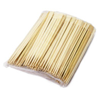 "8 1/4"" Disposable Square Tip Bamboo Chopsticks (100 pairs/pack)"