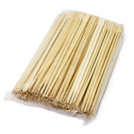 "9 1/2"" Disposable Square Tip Bamboo Chopsticks (100 pairs/pack)"
