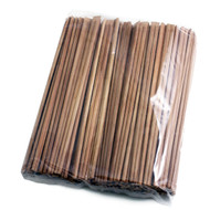 "9 1/2"" Disposable Carbonized Slanted Tip Bamboo Chopsticks (100 pairs/pack)"