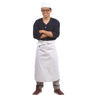 Long White Waist Apron