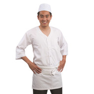 Short White Waist Apron