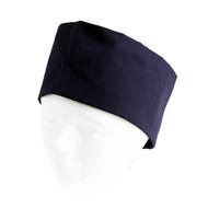 Navy Blue Mesh Top Skull Cap XL