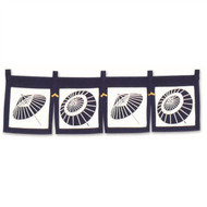 Short Noren Curtain with Umbrella Design