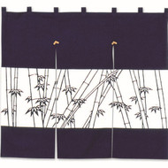 Noren Curtain with Bamboo Design