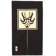 Noren Curtain with Kabuki Design