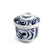 "Chawan Mushi Cup with Vine Design 6 fl oz / 2.87"" dia"
