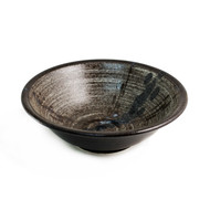 "15% off with code MTCRAMEN15 - Large Bowl with Grainy & Washed Pattern 9 1/2"" dia"