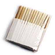 "9 1/2"" Disposable Bamboo Chopsticks with White Bag (100 pairs/pack)"