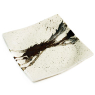 "Abstract Square Ivory Plate 9.21"" x 9.21"""
