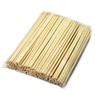 "8.25"" Disposable Sloped Tip Poplar Chopsticks (100 pairs/pack)"