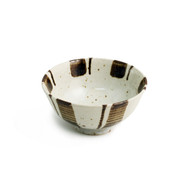 "[Clearance] Small Brown & Ivory Rice Bowl 4 3/8"" dia"