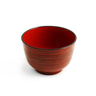 "Red Lined Soup Bowl 4 1/8"" dia"