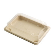 "ST-4G Biodegradable Take Out Sushi Tray 7 1/4"" x 5 1/8"" (50/pack)"