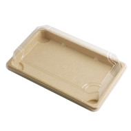 "ST-5G Biodegradable Take Out Sushi Tray 8 1/4"" x 5 1/8"" (50/pack)"
