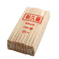 "9 1/2"" Disposable Rikyu Pine Chopsticks (100 pairs/pack)"