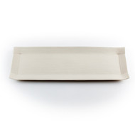 "Ivory Paper-Like Plate 14 3/8"" x 4 3/4"""