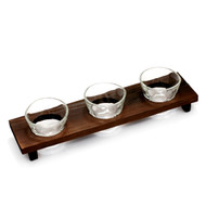 Organic Shaped Sake Flight Glass Set 2.5 fl oz x 3 cups