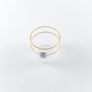 [Clearance] Frosted Glass Sake Cup with Gold Lining 2.7 oz
