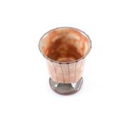 [Clearance] Orange Ceramic Sake Goblet 3.6 oz