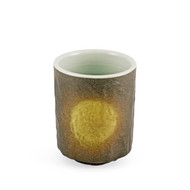 Black Tea Cup with Sage Green Interior