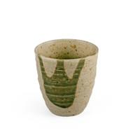 "Tea Cup with Moss Green Design 6.5 fl oz / 2.99"" dia"