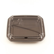 "COT 58 Black Take Out Bento Box 9 1/4"" x7 5/8"" (50/pack)"