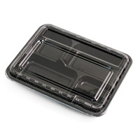 "Black Take Out Bento Box 10 3/8"" x 8 1/8"" (20/pack)"