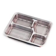 "Z-84-1 Red Take Out Bento Box  10 1/2"" x 7 7/8"" (20/pack)"