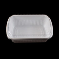 "BF-211 White Take Out Deli Container 7 1/2"" x 5 1/8"" (50/pack)"