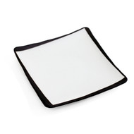 "Square Plate with Black Trim 4 3/4"" x 4 3/4"""