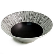 "Large Black & White Bowl 9 1/2"" dia"