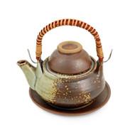 Brown Dobin Mushi Pot