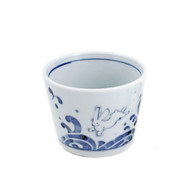 "Soba Choko Cup with Rabbit 3 1/8"" dia"