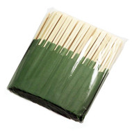 "9 1/2"" Disposable Bamboo Chopsticks with Green Bag (100 pairs/pack)"