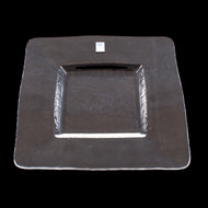 "Orbit Square Glass Plate 9 1/2"" x 9 1/2"""