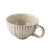 "Striped Bowl with Handle 5 7/8"" x 4 1/2"""