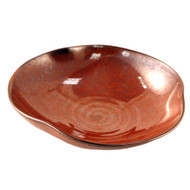 "Glossy Red Bowl 6 1/2"" dia"
